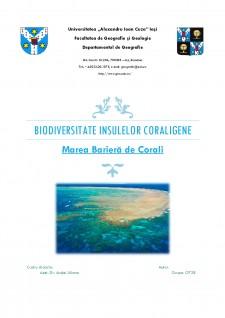 Biodiversitatea insulelor coraligene - Marea Barieră de Corali - Pagina 1