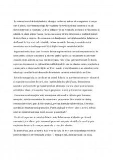 Managementul clasei de elevi - Influențe ale ergonomiei școlare - Pagina 2