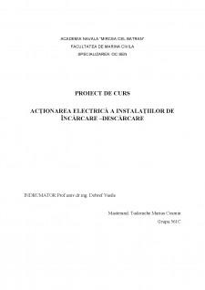 Acționarea electrică a instalațiilor de încărcare - descărcare - Pagina 1