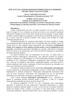 Eficacitatea tehnologiilor informaționale moderne pentru motivația învățării - Pagina 1