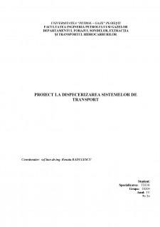 Dispecerizarea unui sistem de transport țiței prin conducte - Pagina 1