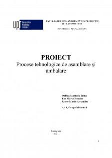 Procese tehnologice de asamblare și ambalare - Pagina 1