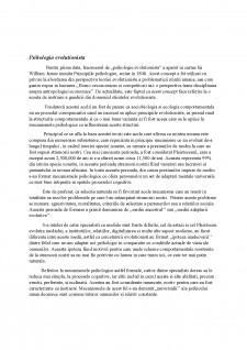 Perspective evulotioniste asupra comportamentului uman - Pagina 2