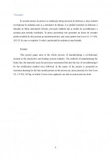 Tehnologia de fabricare și recondiționare a discului de frâna de la autovehiculul Seat Leon 1.9 TDI - Pagina 3