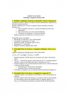 Subiecte examen - Radiologie-imagistica medicala 2020 - Pagina 1