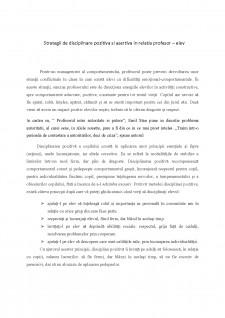 Strategii de disciplinare pozitivă și asertivă în relația profesor-elev - Pagina 2