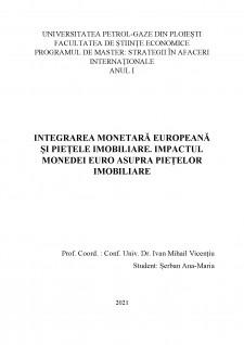 Integrarea monetară europeană și piețele imobiliare. Impactul monedei euro asupra piețelor imobiliare - Pagina 1