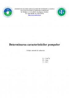 Determinarea caracteristicilor pompelor - Soluție saturată de zaharoză - Pagina 1
