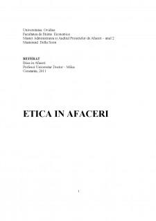 Etică în afaceri - Pagina 1
