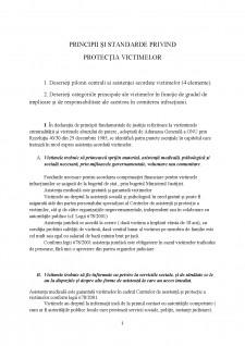 Principii și standarde privind protecția victimelor - Pagina 1