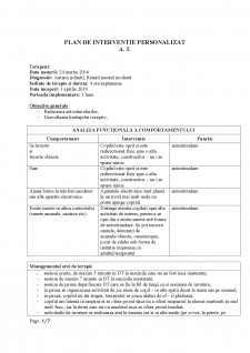 Plan de intervenție personalizat - Pagina 1