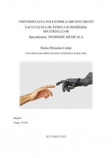 Bionic Dynamic Center - Dezvoltarea unei mâini prostetice mioelectrice la preț redus - Pagina 1