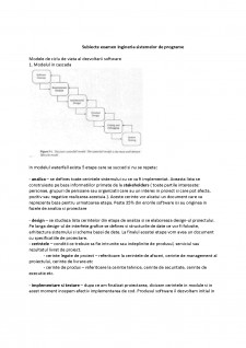 Subiect examen Ingineria sistemelor de programe - Pagina 1
