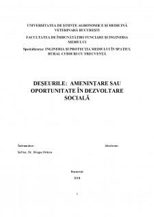 Deșeurile - amenințare sau oportunitate în dezvoltare socială - Pagina 1