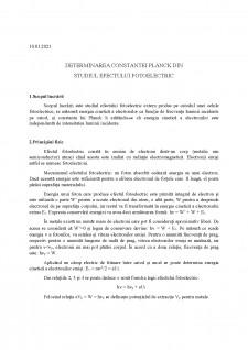 Determinarea constantei planck din studiul efectului fotoelectric - Pagina 1