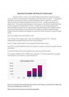 Exportul Carnaților de Pleșcoi în Germania - Pagina 1