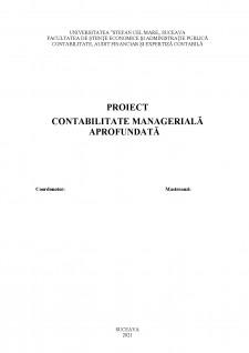 Contabiltate managerială aprofundată - Pagina 1