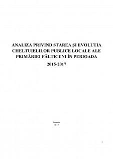 Analiza privind starea și evoluția cheltuielilor publice locale ale primăriei Fălticeni în parioada 2015-2017 - Pagina 1