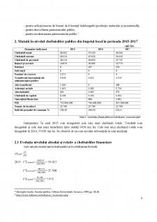 Analiza privind starea și evoluția cheltuielilor publice locale ale primăriei Fălticeni în parioada 2015-2017 - Pagina 5
