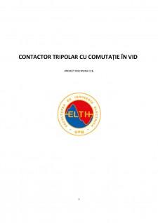 Contactor tripolar cu comutație în vid - Pagina 1