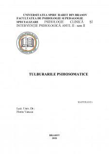 Tulburările psihosomatice - Pagina 1