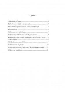 Relațiile de influență - Persuasiune și manipulare - Pagina 2