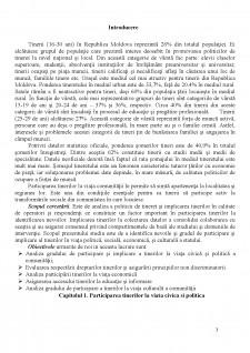 Participarea și activitatea tinerilor în Republica Moldova - Pagina 3