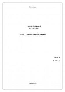 Politici economice europene - Pagina 1
