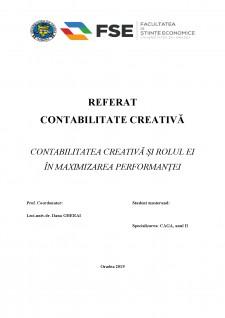 Contabilitatea creativă și rolul ei în maximizarea performanței - Pagina 1