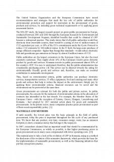 Green public procurement - the evolution of the regulatory framework and pilot initiatives în România - Pagina 2