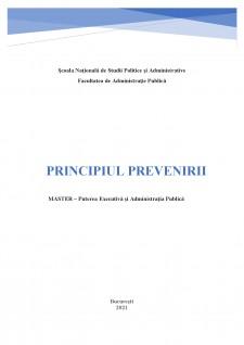 Principiul prevenirii - Pagina 1