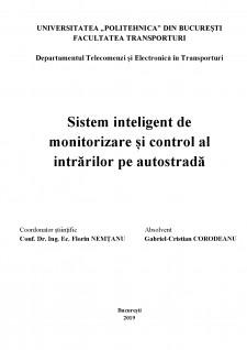 Sistem de monitorizare și control al intrărilor pe autostradă - Pagina 2