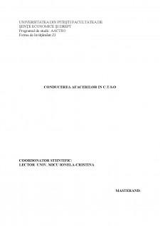 Studiu privind conducerea și organizarea unei afaceri în sistem franciză în C.T.S.O Meli Melo - Pagina 1