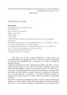 Studiu privind conducerea și organizarea unei afaceri în sistem franciză în C.T.S.O Meli Melo - Pagina 2
