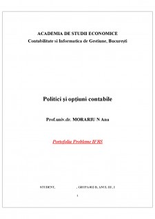 Portofoliu probleme IFRS - Pagina 1
