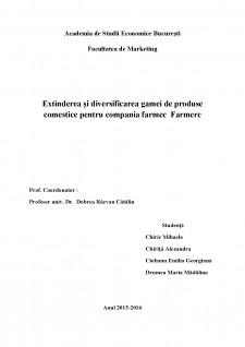 Extinderea și diversificarea gamei de produse comestice pentru compania farmec Farmerc - Pagina 1