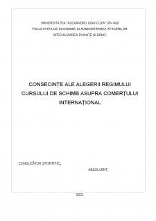Consecințe ale alegerii regimului cursului de schimb asupra comerțului internațional - Pagina 2