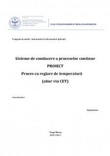 Proces cu reglare de temperatura (abur viu CET) - Pagina 1