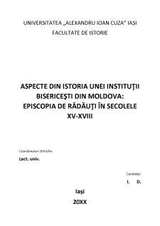 Aspecte din istoria unei instituții bisericești din Moldova - Episcopia de Rădăuți în secolele XV-XVIII - Pagina 2