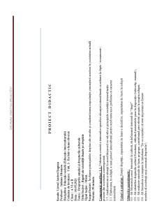 Proiect didactic - Drepturile omului și drepturile culturale - Pagina 1
