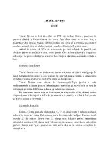 Testul Benton - Pagina 1