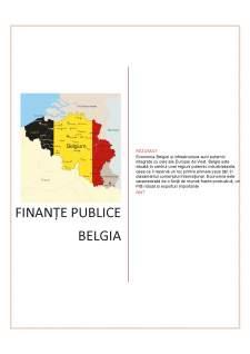 Finanțe publice Belgia - Pagina 1
