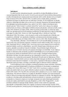 Spre realitatea socială a dislexiei - Pagina 1