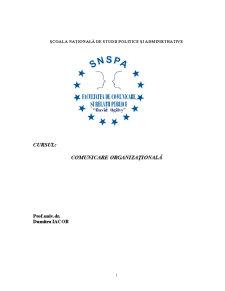 Comunicare Organizationala - SNSPA - Pagina 1