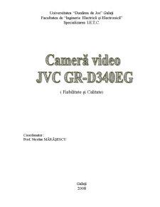 Analiza Camerei de Filmat JVC GR-D340EG - Pagina 1