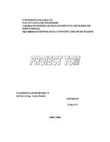 Proiectarea Procesului Tehnologic de Prelucrare al Reperului H.S.65 - Pagina 1