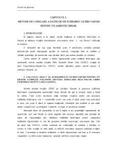 Metode de Corelare a Datelor de Echilibru Lichid - Vapori Pentru un Amestec Binar - Pagina 1