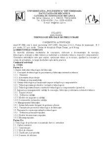 Tehnologii Speciale de Prelucrare (T.S.P) an 4 - Pagina 1