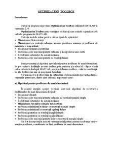 Optimization Toolbox - Capitolul 1 - Pagina 1