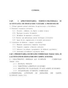 Realizarea unui Subsistem Informatic pentru Desfacerea Stocurilor de Marfuri la SC Dalia SRL - Pagina 2